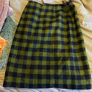 Pendleton pencil plaid skirt